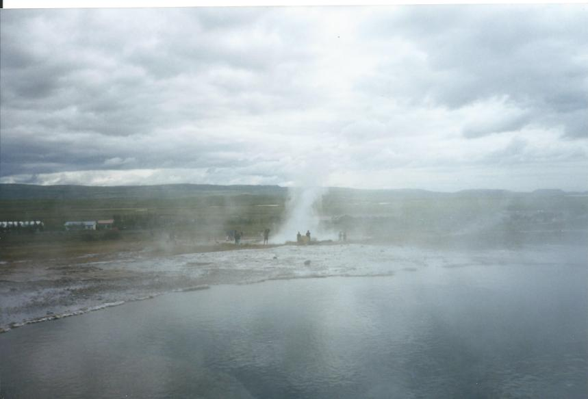 Steam abounds in Iceland.