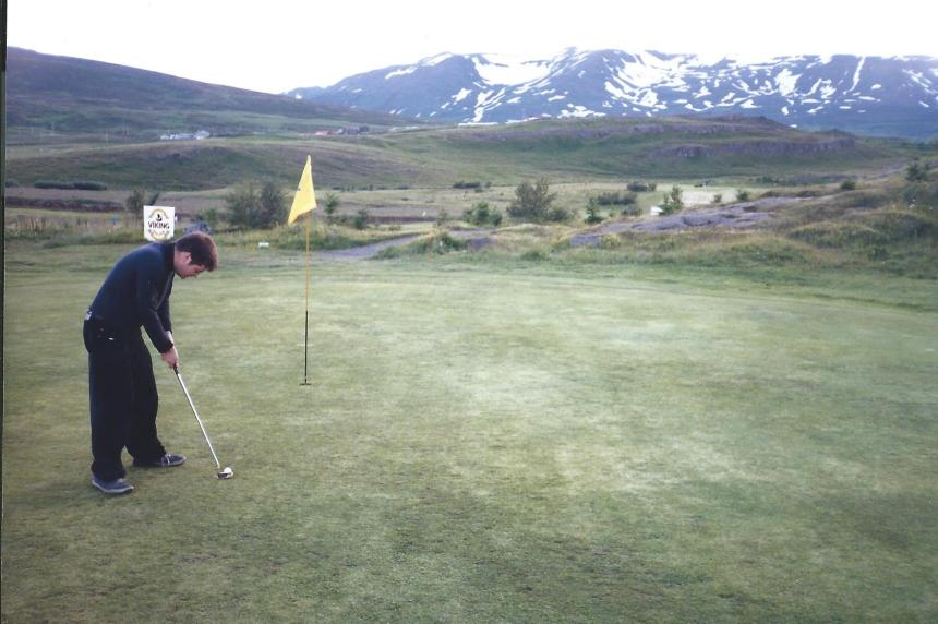 Yep. Me playing golf!