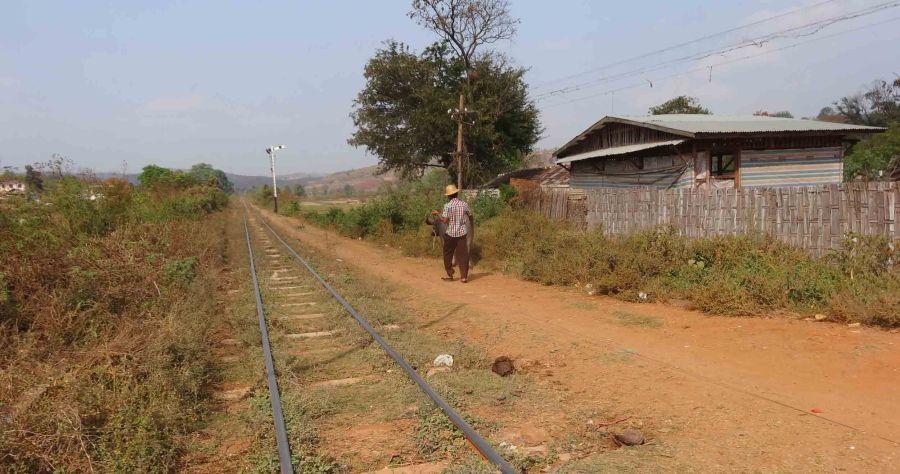 Lonely tracks, near Pyin Oo Lwin
