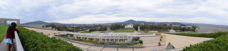 Panorama from the roof of Parliament House.