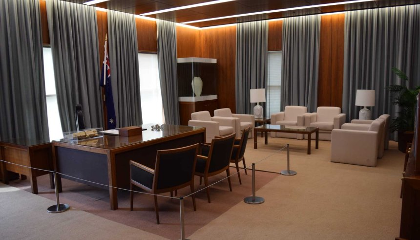 Prime Minister's Office in the Old Parliament House.