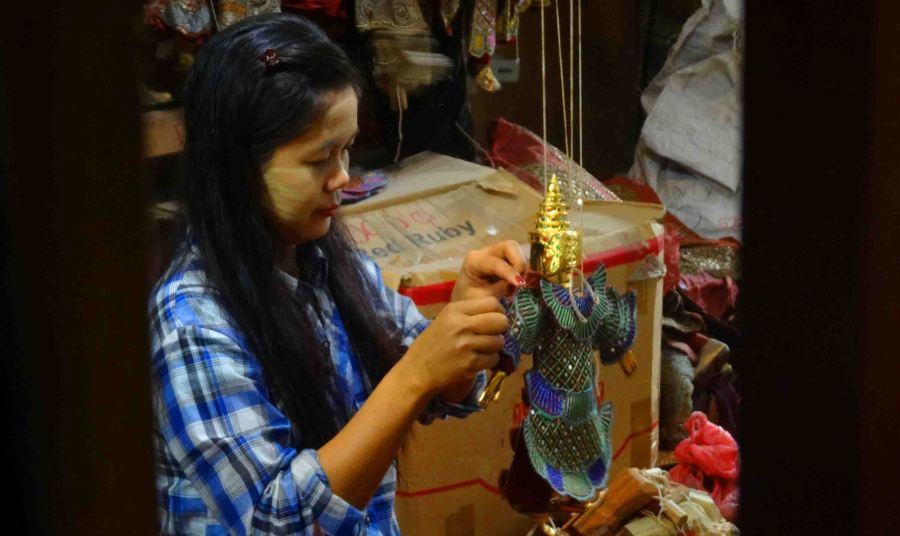 Puppet building in Mandalay.