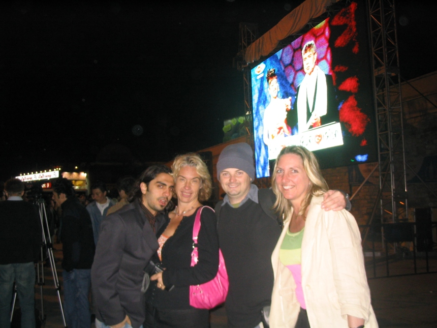 2004 at Taksim Square whilst Eurovision plays on the big screen.