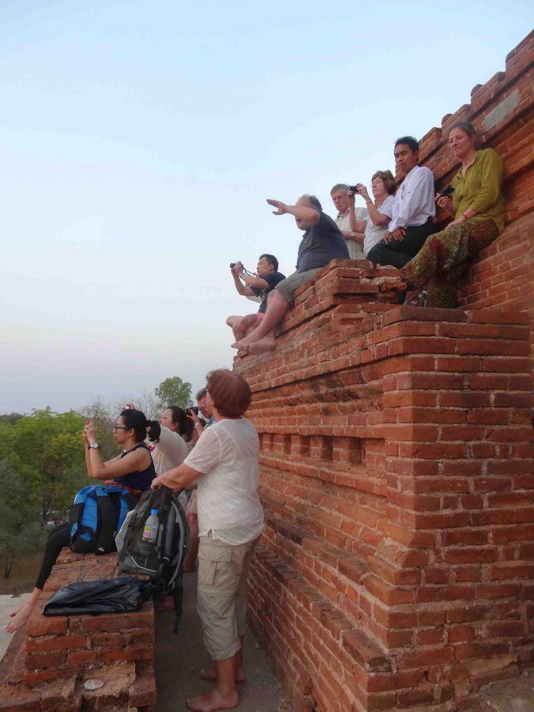 Watching the sun go down at Bagan.