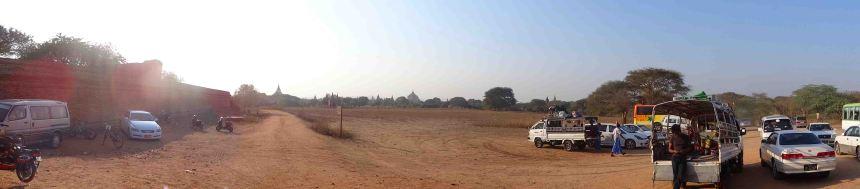 Outside a temple, Bagan.
