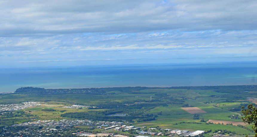 Aerial view of the Cairns region.