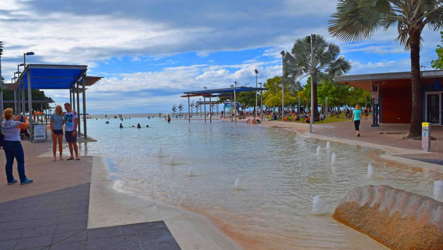 Waterfront at Cairns, public swimming/wading pool.