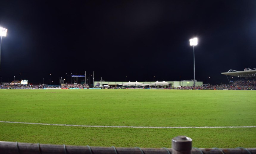 The ground shortly before the start.
