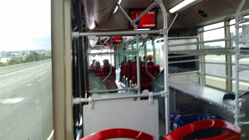 Inside Skybus. Sorry from the bllllllurrrr!