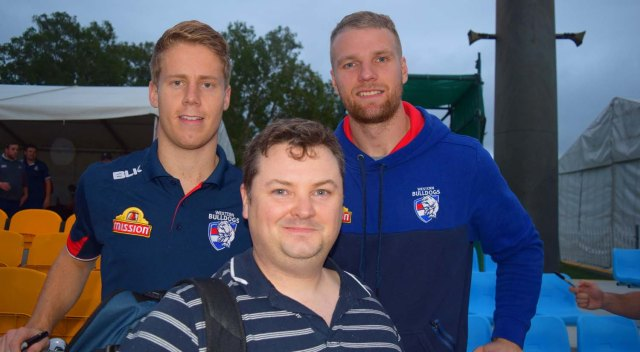 With players Jake Stringer and Lachie Junter.