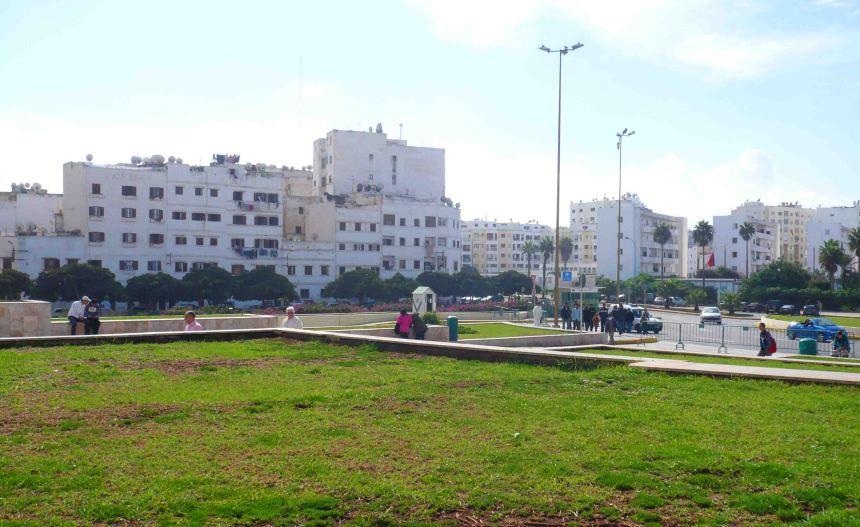Apartment buildings in Casablanca.