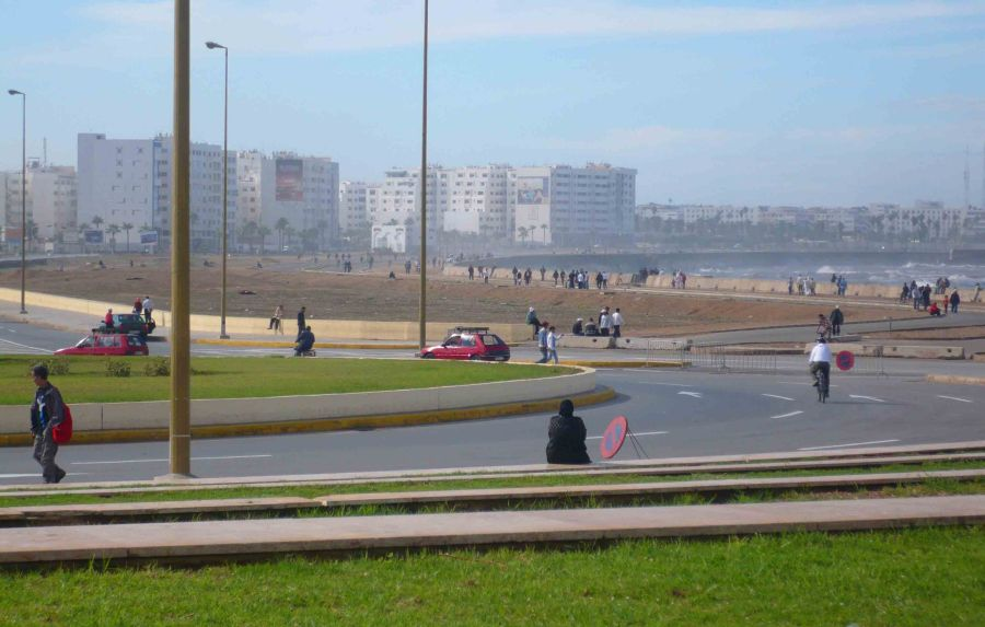 Casablancan Foreshore from the Hassan II Mosque..