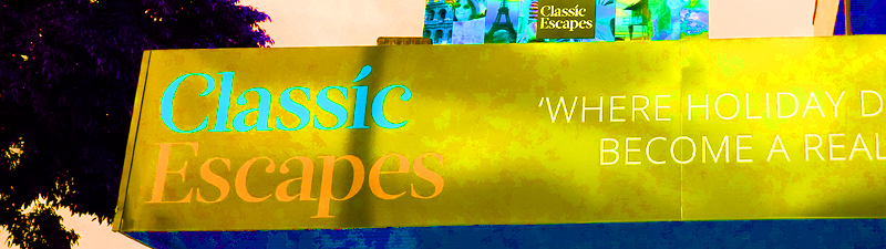 classic escapes banner copy