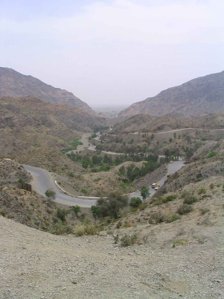 The Khyber Pass between Pakistan and Afghanistan.