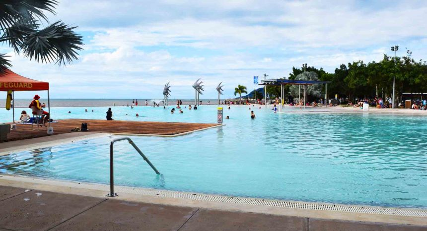 The swimming pool at the esplanade. On a warmer day maybe.. and if I was a LOT younger!