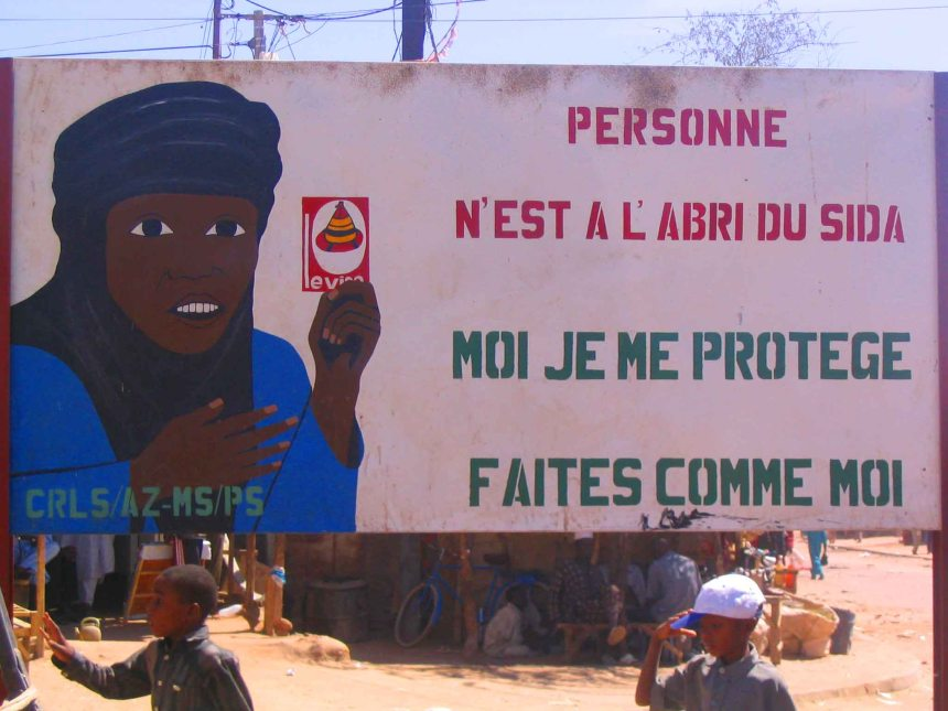 A warning in Agadez against AIDS (SIDA).