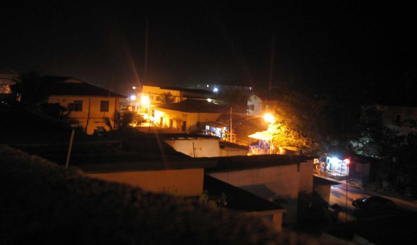 cape coast by night