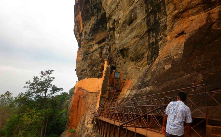 Climbing Sigiriya. Despite my vertigo I managed it.