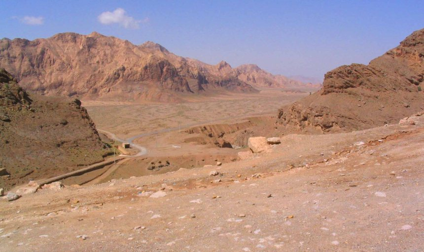 Desert outside of Yazd.