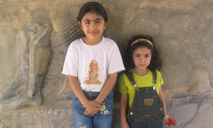 A couple of youngsters at Persepolis.