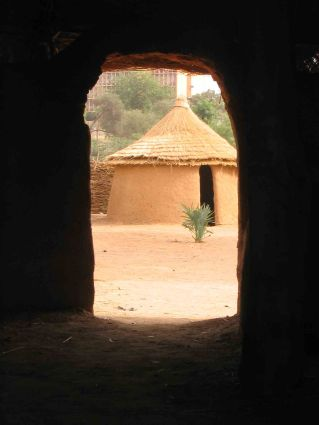 It was an open-air museum, with a variety of huts and mud-brick dwellings on display.
