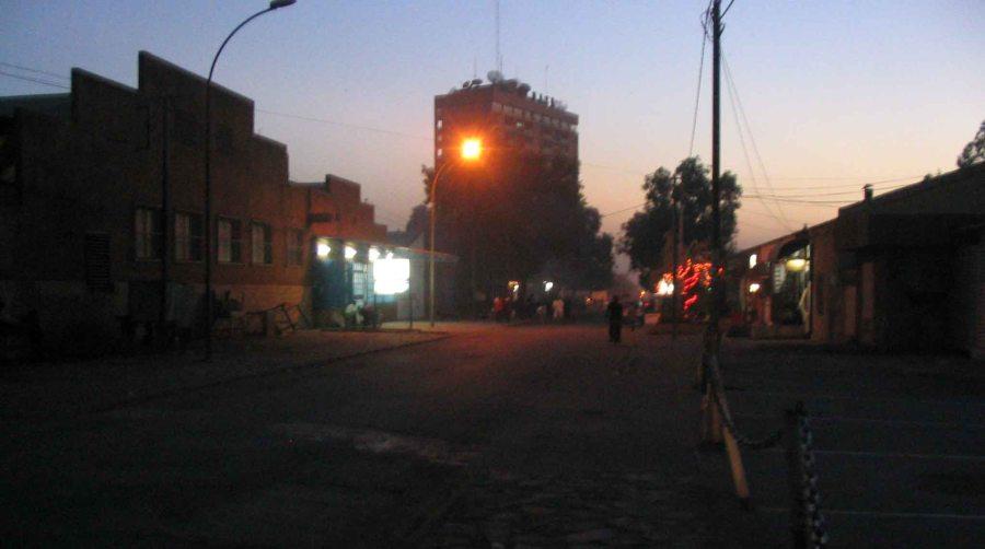 The capital Niamey, by night.