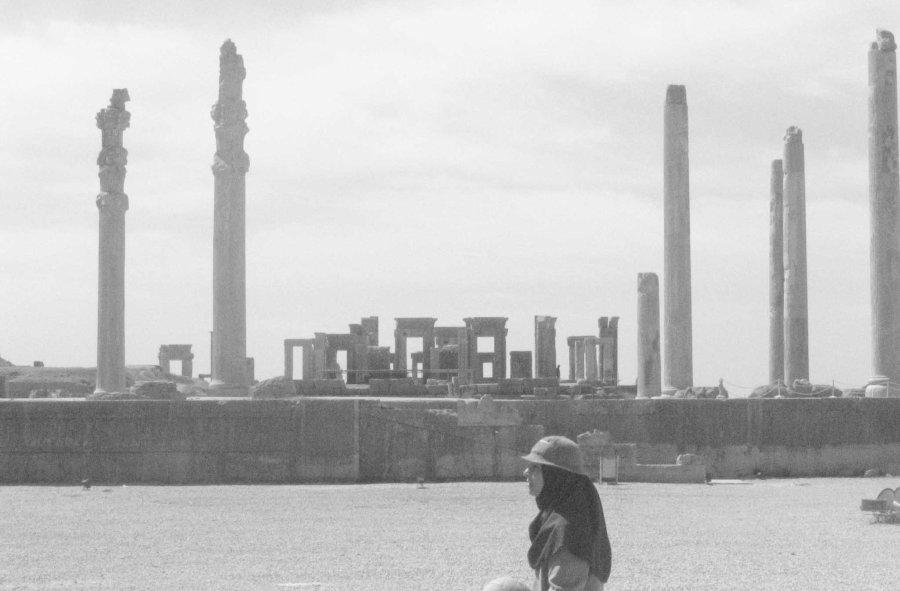 I go black and white in Persepolis.