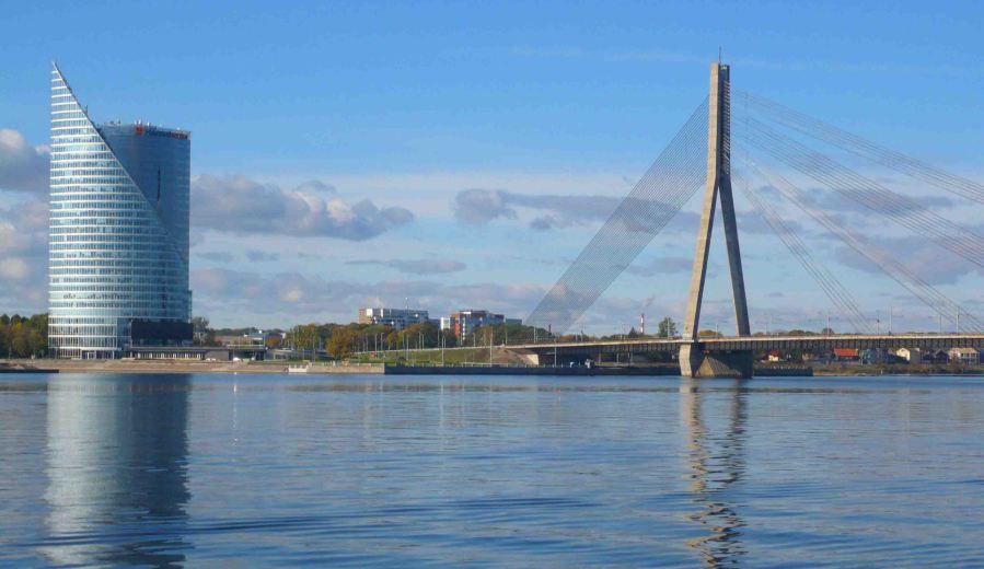 Daugava River Riga.