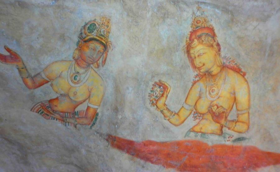 Paintings on rock.
