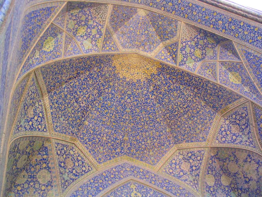 Mosaic in a mosque in Esfahan.