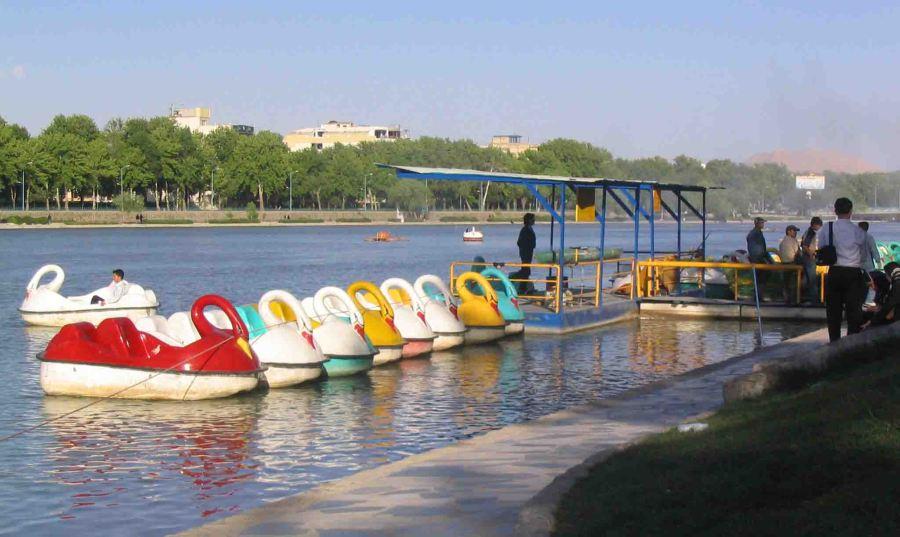 Swans in Esfahan.
