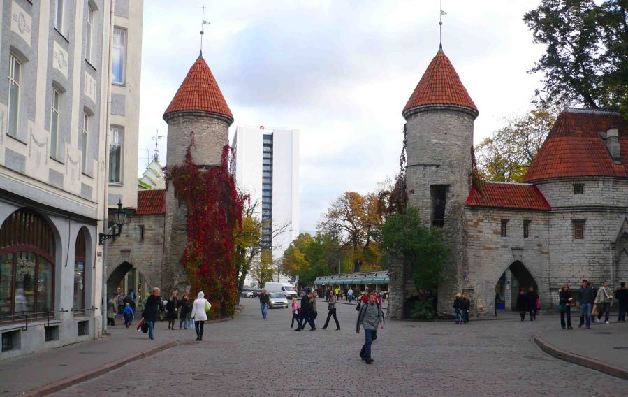 Old City Gates in Tallinn.