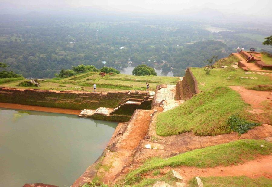 View across from the Lion's Rock, Sigiriya.