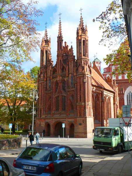 Gothic looking church in Vilnius.