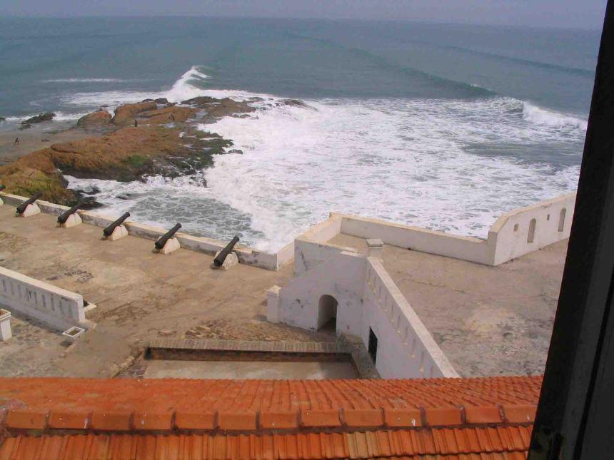 waves on rocks cape coast