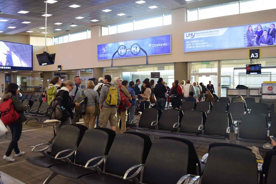 At Quito Airport.