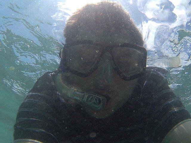 Yep. Underwater selfie. Sorry.