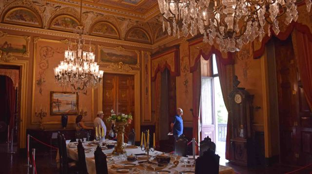 Dining room in Catete Palace.