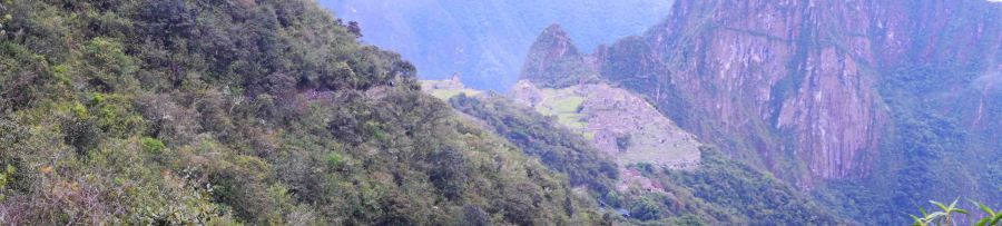 View taken whilst walking to the Sun Gate, maybe a kilometre from Machu Picchu.