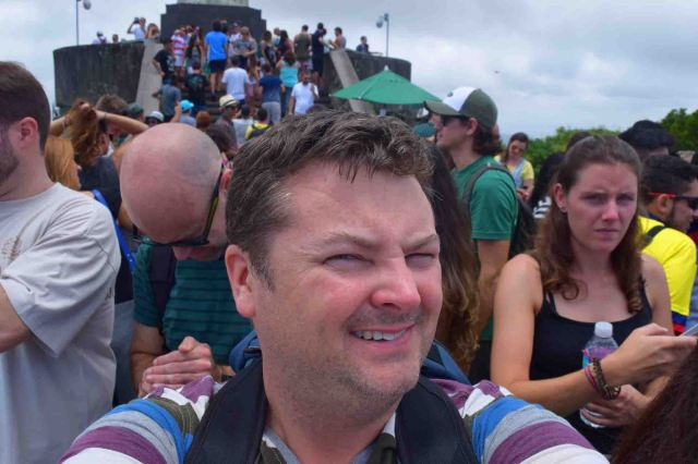Me and the crowds at Christ the Redeemer