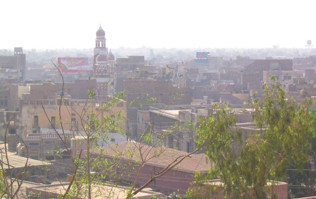 City of Multan from a hill on the outskirts.