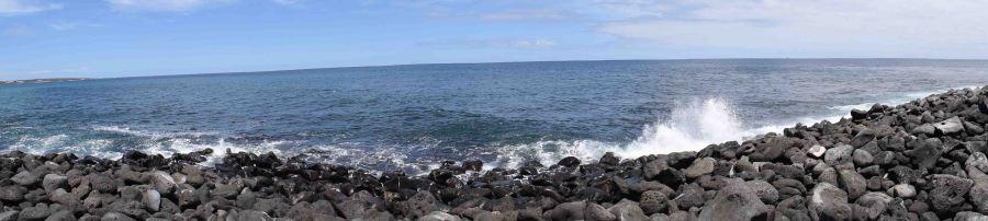 Ocean and rocks, Isla San Cristobel.