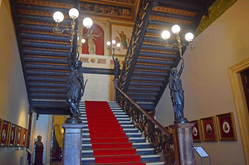 Entrance staircase in Catete Palace