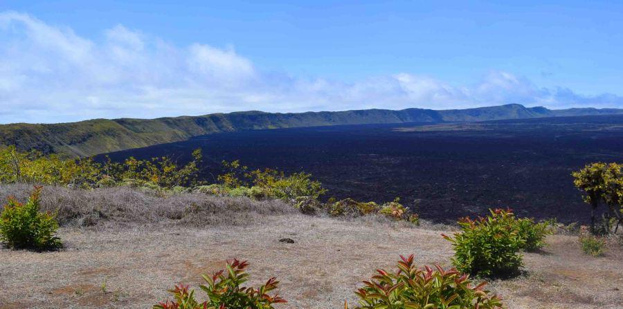 Volcano on Isla Isabella, Galapagos.