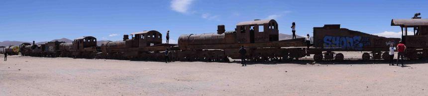Train graveyard, just outside Uyuni town.