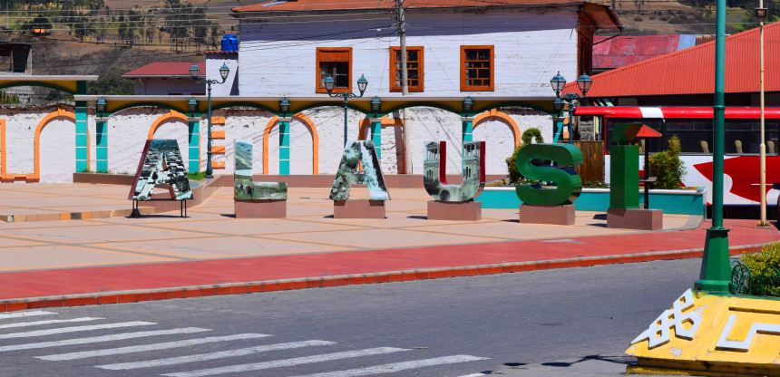 If you weren't sure where you were, Alausi has it's own 'Hollywood' sign!