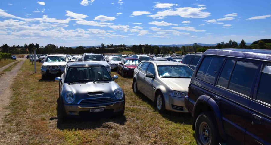 The car park for 'Day on the Green'. Plenty of room. I hear it's hell if you til the very end to get out.