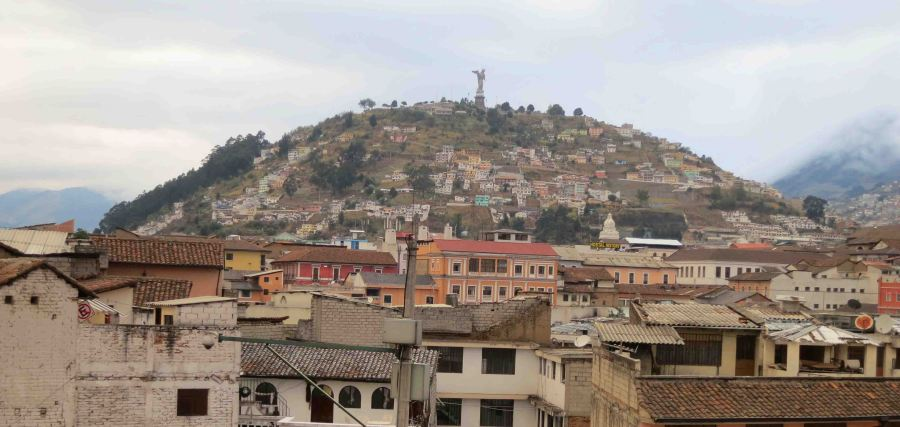 Quito - this hill is regarded as unsafe to walk up, instead tourists should take a taxi.