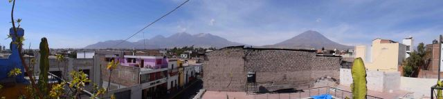 Amazing view from the rooftop of Arequipa.