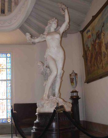 Statue as you enter.
